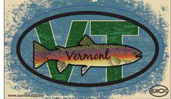 VT Fish Postcard And Sticker
