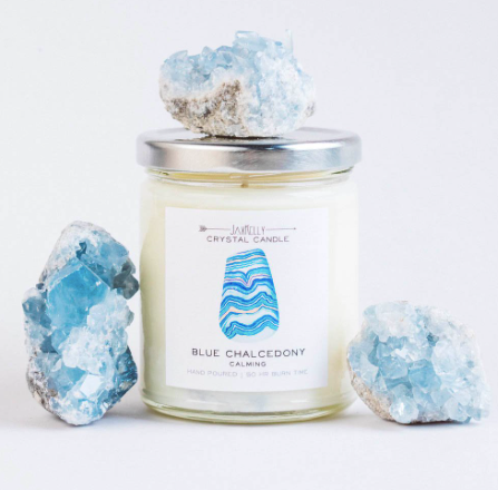 Blue Chalcedony Candle