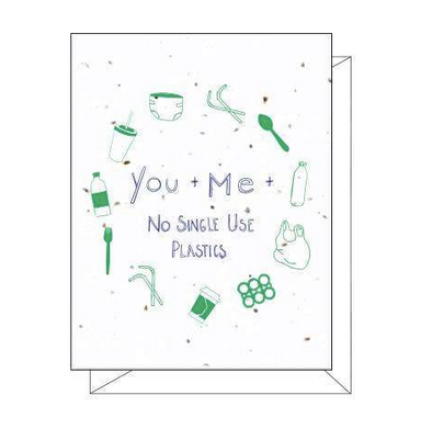 No Single Use Plastics Plantable Greeting Card