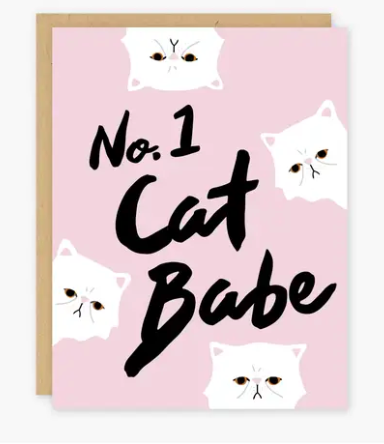 No. 1 Cat Babe Card