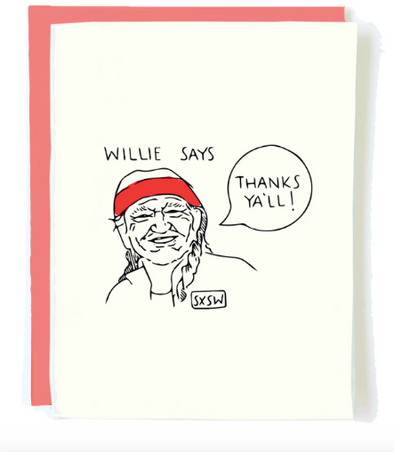 Willie Thanks card