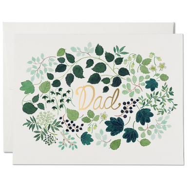 Green Floral Burst Father's Day