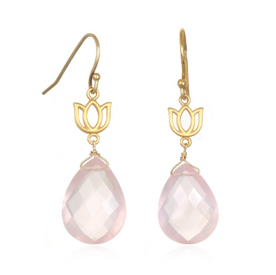 Lotus Quartz Drop Earring