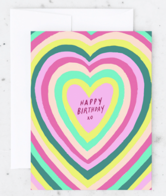 Birthday Heart Card