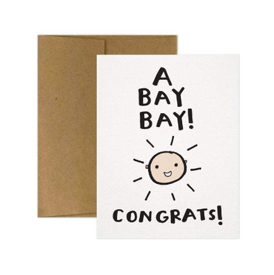 A Bay Bay! Congrats! Greeting Card