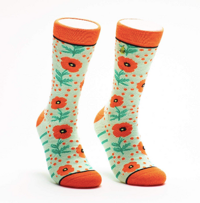 Poppy and Dot Crew Socks