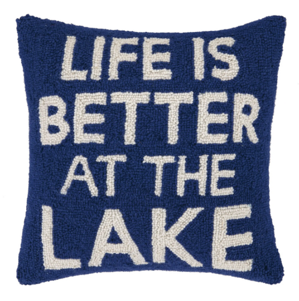 Life is Better at the Lake Hook Pillow