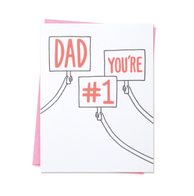 Dad You're #1 Father's Day Card