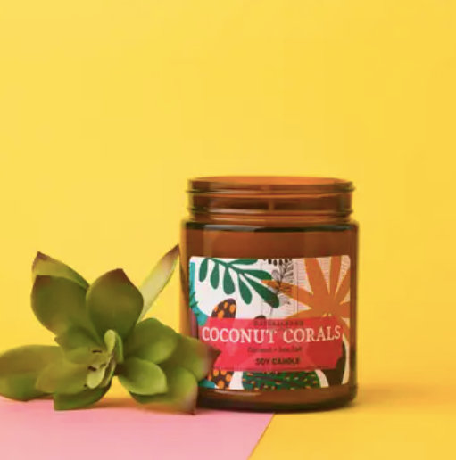 Coconut Coral Soy Candle - 9 oz