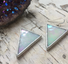Large Triangle Stained Glass Earrings