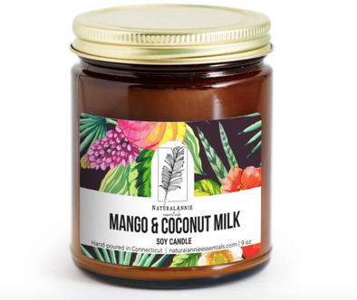 Mango and Coconut Milk Soy Candle--4 oz