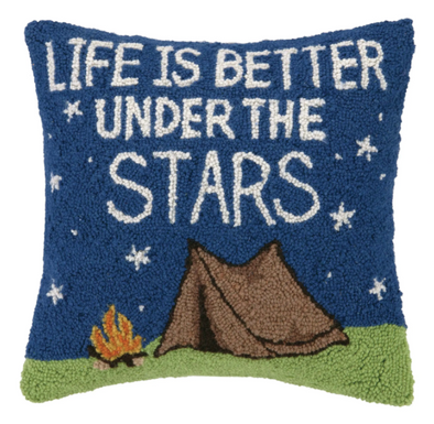 Life is Better Under the Stars Hook Pillow