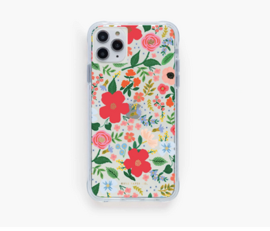 Clear Wild Rose iPhone Case