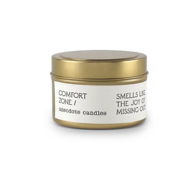 Comfort Zone (Coffee and Cedarwood) Tin Travel Candle
