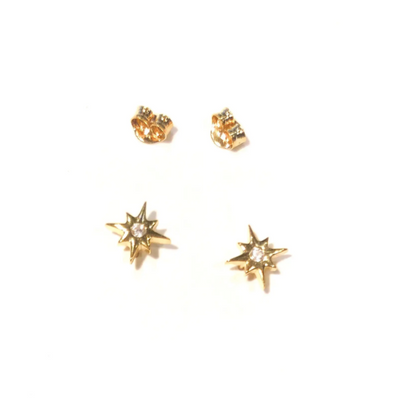 Mini Crystal Star Studs