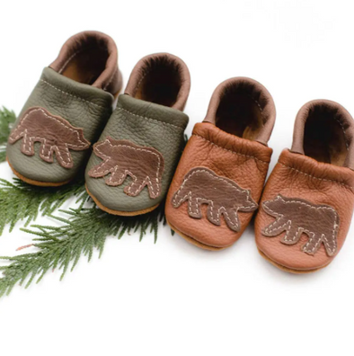 Moss Bear Baby Shoes