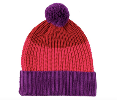 Kids Colorblock Pom Hat