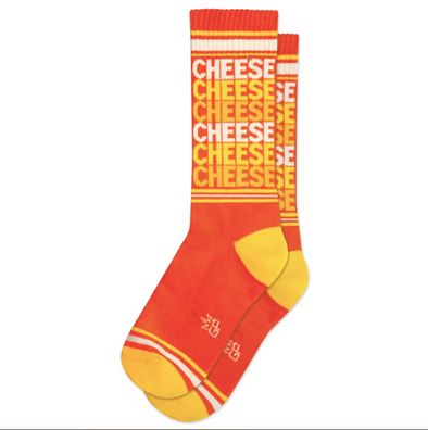 Cheese Ribbed Gym Socks