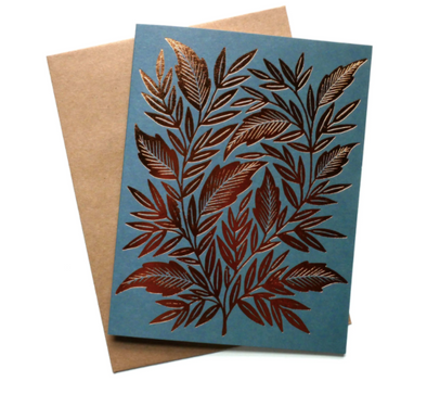 Foliage Foil Stamped Card Box Set