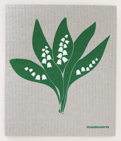 Lily of the Valley Swedish Dishcloth