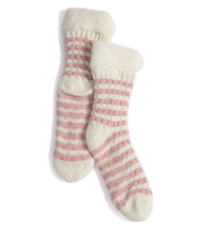 Claudia Slipper Socks Pink