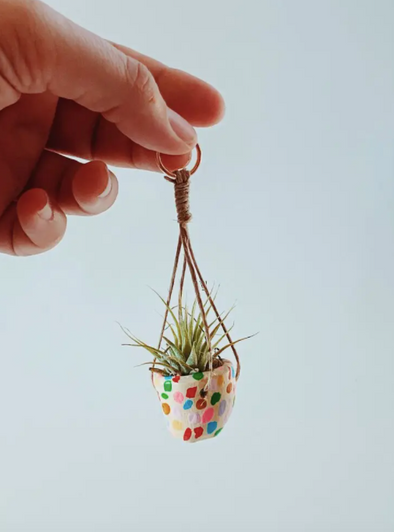Mini Mosaic Hanging Planter