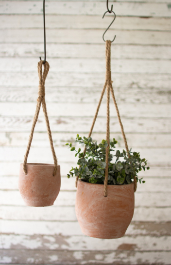 Hanging Clay Flower Pot