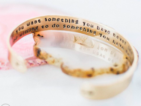 If You Want Something Quote // Brass Cuff Bracelet- WATERBURY