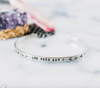 Be Here Now // Skinny Silver Cuff Bracelet