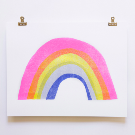 Rainbow - 11x14 Risograph Art Print - WATERBURY