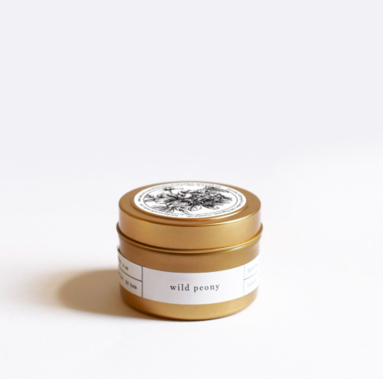 Wild Peony Tin Travel Candle