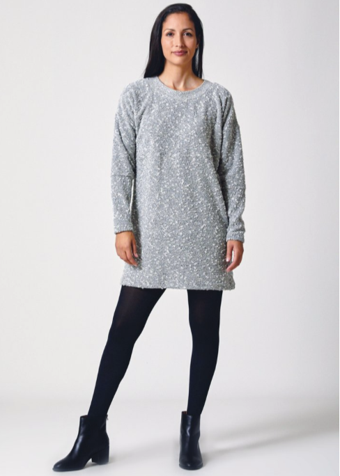 Pebble Knit Dress Silver