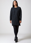 Pebble Knit Dress Black