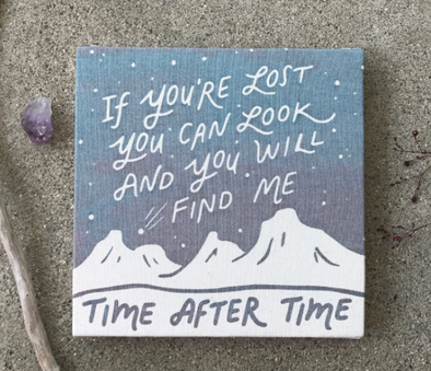 Time After Time Canvas