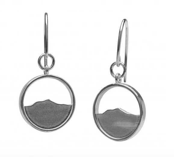 Camel's Hump Silhouette Earring - Silver