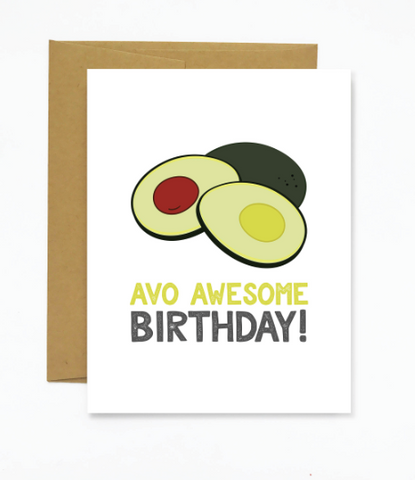 Avo Awesome Birthday - Greeting Card - WATERBURY