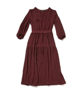Spruce Dress in Oxblood