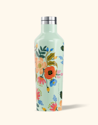 16oz Rifle Paper Co. Mint Floral Canteen