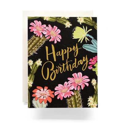 Cactus Blooms Birthday - Greeting Card