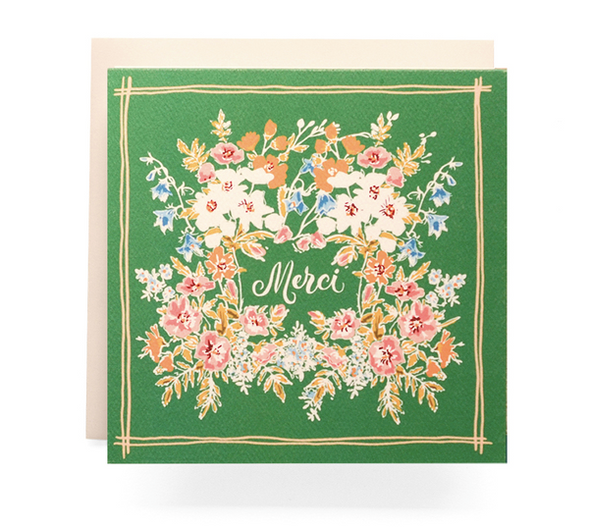 Handkerchief Merci- Greeting Card