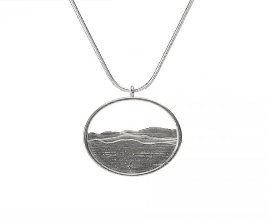 Adirondack Silhouette Oxidized Sterling Silver