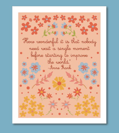 Anne Frank Quote Print 8 x 10