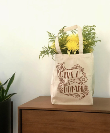 Give A Damn Tote Bag