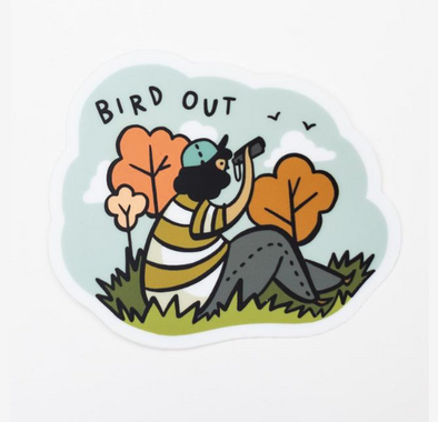 Bird Out Sticker