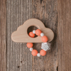 Cloud Wood and Silicone Bead Teether