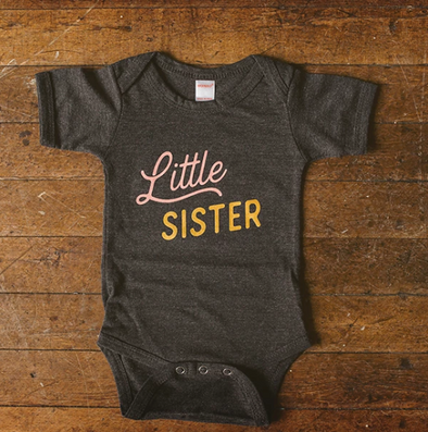 Little Sister Baby Bodysuit