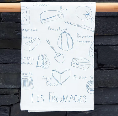 Les Fromage Tea Towel