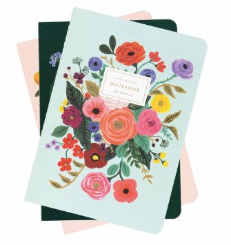 Garden Party Set of 3 Notebooks