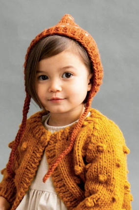 Fair Isle Bonnet in Cinnamon
