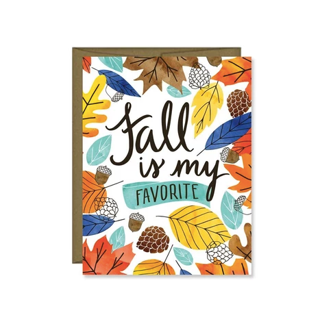 Fall Is My Favorite Greeting Card